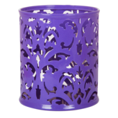 Подставка для ручек металлическая Buromax Barocco, круглая, фиолетовый (BM.6204-07)