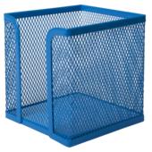 Бокс для бумаги Buromax 100х100x100мм, металлический, синий (BM.6215-02)
