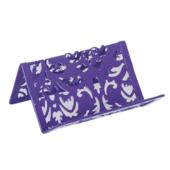 Подставка для визиток металлическая Buromax Barocco, фиолетовый (BM.6226-07)