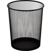 Корзина для бумаг круглая Buromax, 10 л, металл, черная (BM.6270-01)