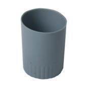 Стакан пластиковый для письменных принадлежностей Buromax Jobmax, серый (BM.6351-09)
