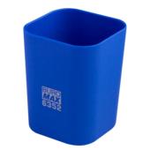 Стакан пластиковый Buromax RUBBER TOUCH для письменных принадлежностей, синий (BM.6352-02)