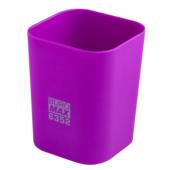 Стакан пластиковый Buromax RUBBER TOUCH для письменных принадлежностей, фиолетовый (BM.6352-07)