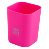 Стакан пластиковый Buromax RUBBER TOUCH для письменных принадлежностей, розовый (BM.6352-10)