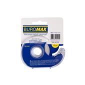 Скотч канцелярский в диспенсере Buromax, 18 мм, 20 м, прозрачный, 1 шт (BM.7161-01)