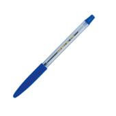 Ручка шариковая Buromax, резиновый грип, синее чернило (BM.8100-01)