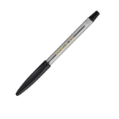 Ручка шариковая Buromax, резиновый грип, черное чернило (BM.8100-02)