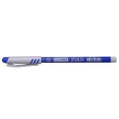 Ручка шариковая Пиши-Стирай Buromax Stealth с пластиковым корпусом 0,7 мм Синяя (BM.8302-01)