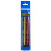 Карандаш графитовый Buromax Neon Line НВ с ластиком 4 шт. в блистере (BM.8508-4)