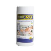 Салфетки влажные антисептические Buromax 100 шт. в пластиковой тубе (BM.0805)