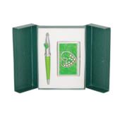 Набор подарочный Langres Crystal Heart: ручка шариковая + визитница, зеленый (LS.122008-04)