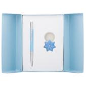 Набор подарочный Langres Star: ручка шариковая + брелок, синий (LS.122014-02)