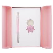 Набор подарочный Langres Star: ручка шариковая + брелок, розовый (LS.122014-10)
