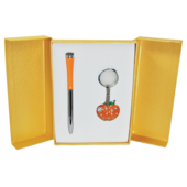 Набор подарочный Langres Apple: ручка шариковая + брелок, оранжевый (LS.122024-11)
