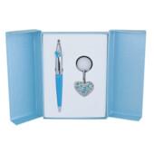 Набор подарочный Langres Miracle: ручка шариковая + брелок, синий (LS.122026-02)