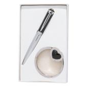 Набор подарочный Langres Crystal: ручка шариковая + гачек для сумки, черный (LS.122028-01)