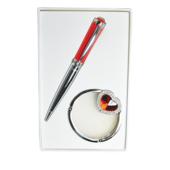 Набор подарочный Langres Crystal (ручка шариковая и крючок для сумки) Красный (LS.122028-05)