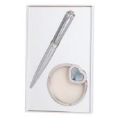 Набор подарочный Langres Crystal (ручка шариковая и крючок для сумки) Серый (LS.122028-09)