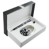 Набор подарочный Langres Elegance: ручка шариковая + гачек для сумки, черный (LS.122029-01)