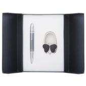 Набор подарочный Langres Lightness: ручка шариковая + гачек для сумки, черный (LS.122030-01)