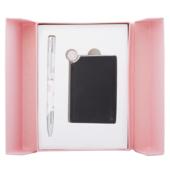 Набор подарочный Langres Nature: ручка шариковая + зеркало, розовый (LS.122035-10)