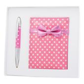 Набор подарочный Langres Monro: ручка шариковая + зеркало, розовый (LS.122036-10)