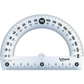 Транспортир пластиковый Maped Essentials, 180гр/120мм, прозрачный (MP.146134)