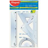 Набор линеек пластиковых Maped Essentials Medium, 20 см, 4 предмета (MP.242820)