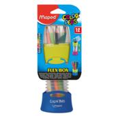 Карандаши цветные Maped Color Peps Flex Box 12 цветов в пластиковом футляре (MP.683212)