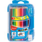 Набор цветных карандашей Maped Color Peps Smart Box 12 цветов с точилкой, ластиком и мини-карандашом (MP.832032)