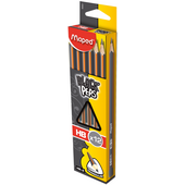 Карандаш графитовый Maped Black Peps, HB, без ластика (MP.850021)