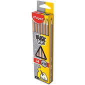 Карандаш графитовый Maped Black Peps, H, без ластика (MP.850025)