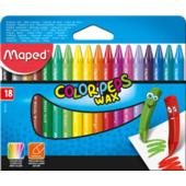 Мелки восковые Maped Color Peps Wax Crayons 18 цветов (MP.861012)