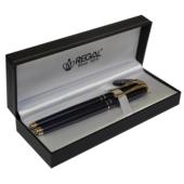 Комплект ручек Regal (перьевая+роллер) в подарочном футляре L, жемчужно-черный (R12216.L.RF)