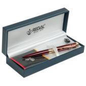 Ручка шариковая Regal, в подарочном футляре, бордовый (R35501.L.B)
