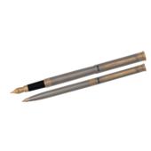Комплект ручек Regal (перьевая+шариковая) в подарочном футляре L, сталь  (R68007.L.BF)