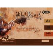 Скетчбук ZiBi Art Line А4 на 40 листов белого цвета 100 г/м2 (ZB.1486)