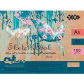 Скетчбук ZiBi Art Line с белым блоком на 40 листов А5 100 г/м2 (ZB.1494)