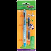 Ручка перьевая Zibi ZB.2251, + 2 капсулы, с закрытым пером, пластик, голубой корпус