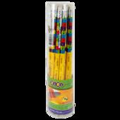 Карандаш графитовый ZiBi Kids Line Emotions HB с ластиком (ZB.2308-20)