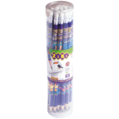 Карандаш графитовый ZiBi, EXOTIC HB, с ластиком, туба 20 шт., KIDS Line (ZB.2313-20)
