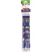 Карандаш графитовый ZiBi Kids Line Exotic HB с ластиком 5 шт. в блистере (ZB.2313-5)