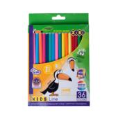 Карандаши цветные ZiBi Kids Line 36 цветов (ZB.2417)