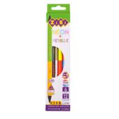 Карандаши цветные двухсторонние ZiBi Kids Line Double 6 шт. (12 цветов) Neon и Metallic (ZB.2465)