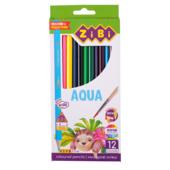 Карандаши цветные акварельные ZiBi Kids Line Aqua 12 шт. (ZB.2475)