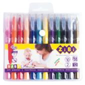 Пастель масляная шелковая ZiBi Baby Line Jumbo с акварельным эффектом 12 цветов (ZB.2497)