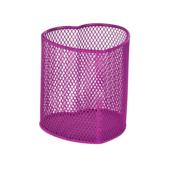 Подставка для ручек металлическая ZiBi, круглая, розовый (ZB.3102-10)