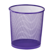 Корзина для бумаг круглая ZiBi, 10 л, металл, фиолетовый (ZB.3126-07)