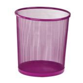 Корзина для бумаг круглая ZiBi, 10 л, металл, розовый (ZB.3126-10)