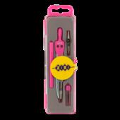 Готовальня ZiBi Basis ZB.5303BS-10, 4 предмета, розовый